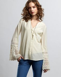 Lucky Brand  Love this top. So Boho. Older gals can rock the Boho look without worry.