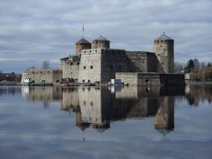 The Olavinlinna castle built on the border between Sweden and Novgorod Republic