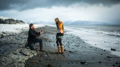 This beach proposal is so flawless.