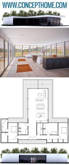 Modern Architecture - Modern Architecture, Home Plans, House Plans - Craftsman House Plans, New House Plans, Dream House Plans, Modern House Plans, Small House Plans, House Floor Plans, Modern Architecture House, Architecture Plan, Minimalist Architecture