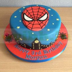 Spiderman Birthday Cake, 4th Birthday Cakes, Superhero Cake, Marvel Cake, Batman Cakes, Batman Batman, Batman Logo, Disney Frozen Cake, Spider Man