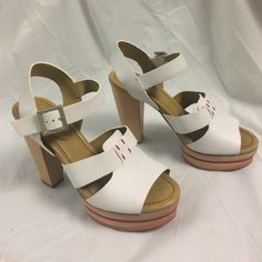 Selling this See by Chloe' white leather platform heels in my Poshmark closet! My username is: b287807. #shopmycloset #poshmark #fashion #shopping #style #forsale #See by Chloe #Shoes