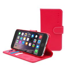 Snugg iPhone 6 Plus Flip Case in Red Leather