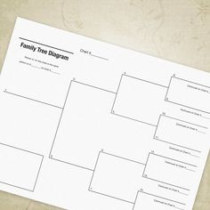 This is for a printable PDF Family Tree Diagram for 4 generations. Track generations of your family in an easy and organized way. Great for budding genealogists. Includes options to link to other charts to complete your family tree.  All you will need is the latest version of