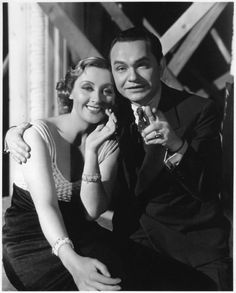 """Joan Blondell and Edward G. Robinson in """"Bullets or Ballots"""" (1936)"""