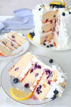 A simple blueberry lemon cake recipe? Yes, please! This easy-to-make lemon and blueberry cake is mouthwateringly delicious. A simple, crowd-pleasing dessert perfect for any occasion! While blueberry and lemon may evoke summer-time thoughts, this blueberry lemon cake will continue to please year-round. From a casual brunch get-together to an elaborate celebration, this lemon blueberry cake is a tantalizingly delicious showstopper made for any occasion. The cake has a tender and moist texture that