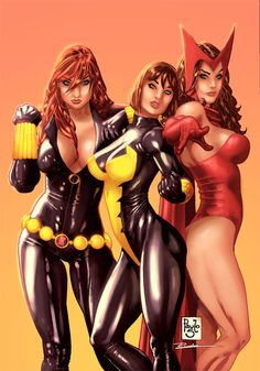 <3 Black Widow-Wasp-Scarlet Witch