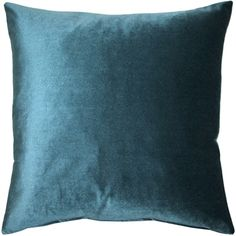 This rich teal inch velvet pillow combines wonderfully with the Corona Aqua Blue and Silver Velvet pillows. The Corona Velvet pillows are made from an exceptionally soft, medium-pile, medium-sheen velvet fabric. Size: 16 x Pattern: Solid Color. Teal Pillows, Velvet Pillows, Throw Pillows, Decor Pillows, Machine Wash Pillows, Pillow Arrangement, American Decor, Blue And Silver, Aqua Blue