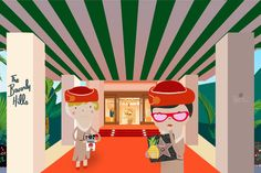 Our favourite Emirates airlines crew Pola and Tola on their way to one of top, world hotels: Beverly Hills Hotel. :-) (copywriting: #YMI)
