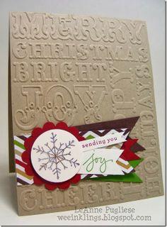 LeAnne Pugliese WeeInklings Endless Wishes #Christmas #Card