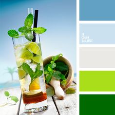 Cocktail color palette