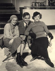 Jean Harlow, Clark Gable and Myrna Loy >>>>Wow-- S0 Much Fabulous in One picture!! : )