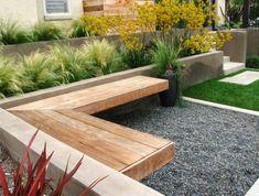 Petit banc de jardin en bois, pierre ou métal en 48 idées tendance