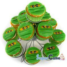 Cupcakes Easy Birthday 68 Ideas For 2019 Ninjago Cupcakes, Bolo Ninjago, Ninjago Party, Wedding Cakes With Cupcakes, Fun Cupcakes, Fun Cookies, Birthday Cupcakes, Ninja Lego Cake, Ninja Birthday Parties