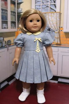 """Detailed 1930s Frock - Fits18"""" American Girl Doll, An Original KeeperDollyDuds…"""