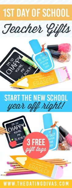 1st Day of School Teacher Gift Ideas that are super quick and easy!