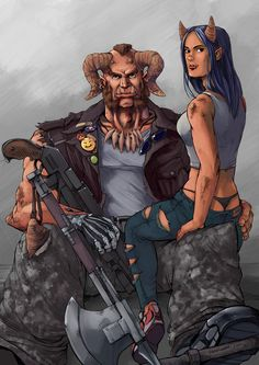 A piece of 2 Shadowrun-Characters, Goliath and TNT, comissioned by Chris B. Goliath and TNT Comission Character Concept, Character Art, Character Design, Character Ideas, Shadowrun Game, Cyberpunk Rpg, Indian Comics, Sci Fi Characters, Character Portraits