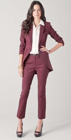 2017 Special Offer Pantalones Mujer Women Suit Dress Burgundy Ladies Custom  Made Business Office Tuxedos Formal Work Wear Suits 357cf33bd690