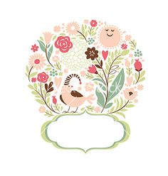Frame with flowers vector - by Lenlis on VectorStock®