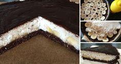FITNESS kokosový dort s banány - FOTOPOSTUP | NejRecept.cz