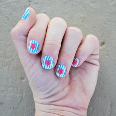 manic MANI MONDAY: CARNIVAL NAILS - sticker stencils for pretty polished look!