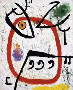 Joan Miró: Femme espagnole 1972 Öl auf Leinwand 162,5 x 131 cm Privatsammlung