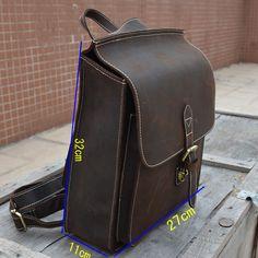 Винтаж crazy horse кожа рюкзаки, Мужские натуральная кожа рюкзак, прочный кожаный мешок школы, лошадь кожаный мешок быстро post купить в магазине Win win plus leather trade co.,ltd на AliExpress