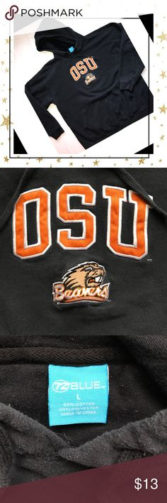 """Oregon State Beavers Hoodie Get your game day on! OSU soft and cozy Beavers hoodie! Measures 24"""" flat lay across chest Pre-owned good condition with no stains rips or tears. View all photos and ask questions before purchase No Smoke and Pet Friendly home  72 Blue Tops Sweatshirts & Hoodies"""