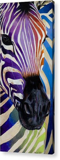 Colorful zebra painting Lady Stripes Painting by Bob Coonts Zebra Art, Arte Pop, Horse Art, Art Design, Oeuvre D'art, Painting Inspiration, Painting & Drawing, Zebra Drawing, Watercolor Art