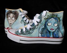 Personalized handpainted shoes The Corpse Bride Tim by MadCandies