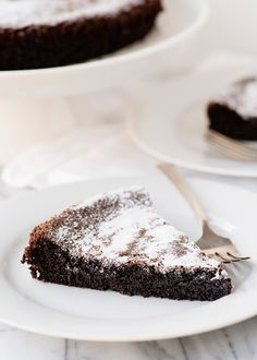 Gluten-Free and Dairy-Free Chocolate Olive Oil Cake is a tasty dessert you have to try out. This cake is dietary friendly if you are gluten free or need a dairy free option. Sprinkle with powdered sugar and serve up a slice and enjoy. Chocolate Olive Oil Cake, Tasty Chocolate Cake, Dairy Free Chocolate, Chocolate Recipes, Flourless Chocolate, Almond Recipes, Dairy Free Recipes, Diet Recipes, Vegan Whipped Cream