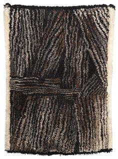 Kuhilaita Stooks by Kirsti Ilvessalo Textiles, Textile Prints, Textile Patterns, Textile Design, Textile Art, Mid Century Rug, Rya Rug, Latch Hook Rugs, Wool Art