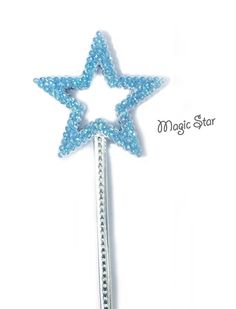 Frozen Party favor Glitter Blue Princess Fairy Tale Wand by DazzleLand
