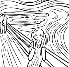 Fantastic collection of coloring pages based on famous works of art. This one h… Fantastic collection of coloring pages based on famous works of art. This one happens to be Edvard Munch, but there are tons more. Coloring Books, Coloring Pages, Free Coloring, Online Coloring, Coloring Sheets, Famous Artists Paintings, Oil Paintings, Edvard Munch, Online Painting