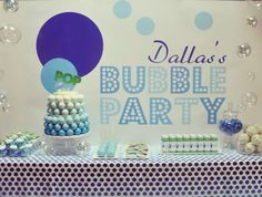 bubbles theme boys birthday party
