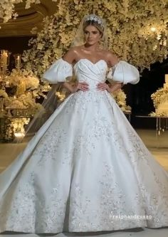 """""""Highlights from wedding ❤️ Dress Ralph And Russo, One Shoulder Wedding Dress, Highlights, Couture, Things To Sell, Princess, Wedding Dresses, Lace, Instagram"""