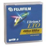 Fujifilm LTO Ultrium 3 Tape Cartridge - LTO Ultrium LTO-3 - 400GB (Native)/800GB (Compressed) by Fuji. $24.25. Data cartridge offers 400GB native storage capacity, 800GB compressed. Native transfer speeds from 40-80MBs. Fuji Film proprietary ATOMM technology. Innovative Servo-Writing technology. Robust cartridge design. Superior archival life. Ideal for demanding storage environments from network server to enterprise computers.