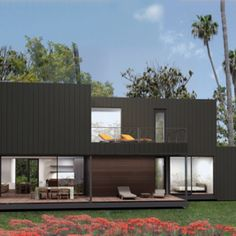 New Skyline Homes by Marmol Radziner Prefab and Dwell Skyline Homes, New Skyline, Modern Prefab Homes, Modular Homes, Prefab Houses, Wood Houses, Tiny Houses, Metal Homes, Home Collections