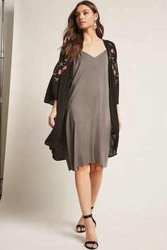 Product Name:Embroidered Floral Kimono, Category:CLEARANCE_ZERO, Price:35