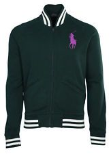 Polo Ralph Lauren Men's Big Pony Varsity Jacket-Collage Green