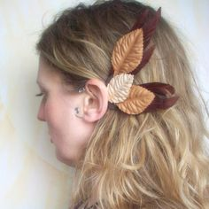 Fairy Wings Elf Ear Cuffs Woodland Bird Wings in by SameSkyWings, $14.00