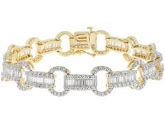 Bella Luce (R) Round And Baguette 18k Yellow Gold Over  Sterling Silver Bracelet