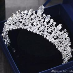 Gorgeous Princess 2018 Big Wedding Crowns Bridal Jewel Headpieces Tiaras  For Women Silver Metal Crystal Rhinestone Baroque Hair Headbands Bride  Veils Cheap ... 3cbeac05f667