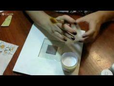 Ф.Батдалова. Рамка для фотографий. Савмещение техник, декупаж + работа с фоамираном. - YouTube