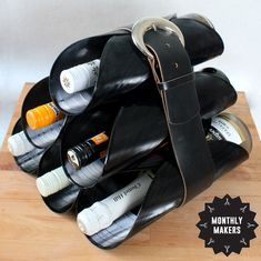 Records and belt into wine rack Tap Shoes, Dance Shoes, Just Do It, Wine Rack, Repurposed, Upcycle, Diy And Crafts, Recycling, Craft Ideas