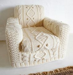 Knitted chair - too cool!
