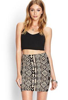 Tribal Print Knit Skirt | FOREVER21 - 2000088302