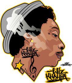 Wiz Khalifa Illustration