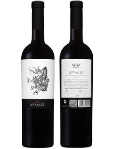 Fruity red wine Dryades is made from a combination of wine varieties by Greek winery Domaine Glinavos