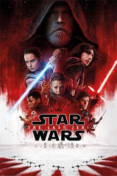 Star Wars: The Last Jedi -- Daisy Ridley, John Boyega, Oscar Isaac, Adam Driver, Mark Hamill Star Wars Film, Ver Star Wars, Star Wars Watch, Star Wars Poster, Poster Poster, Print Poster, Star Trek, Hindi Movies, New Movies